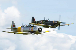 harvard and spitfire at classic wings