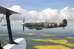 Wing to wing with a Spitfire